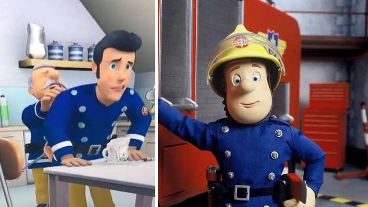 Dad Spots A Very Strange Scene In 'Fireman Sam' While His Kids Were Watching