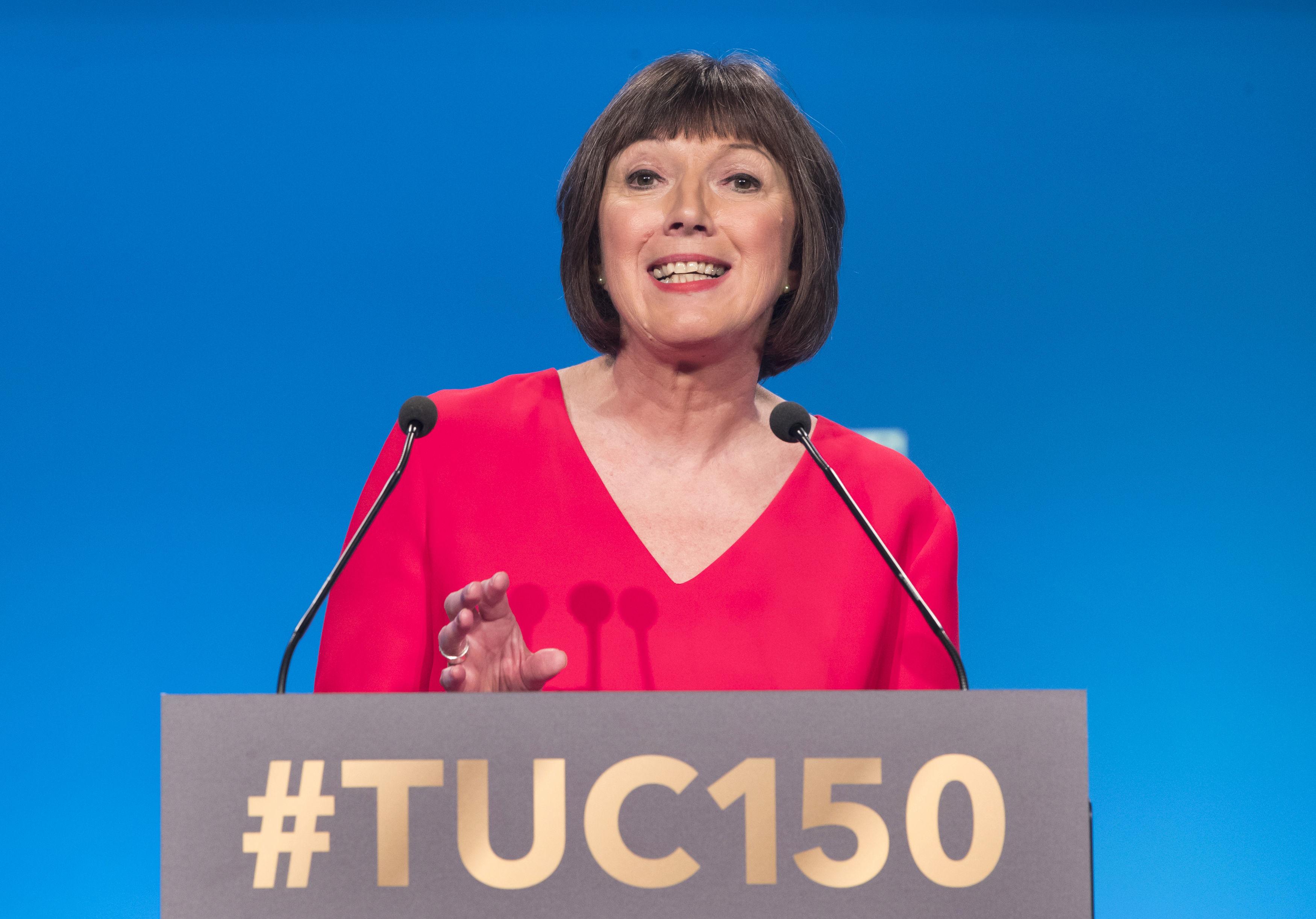 Frances O'Grady of the TUC. Credit: PA