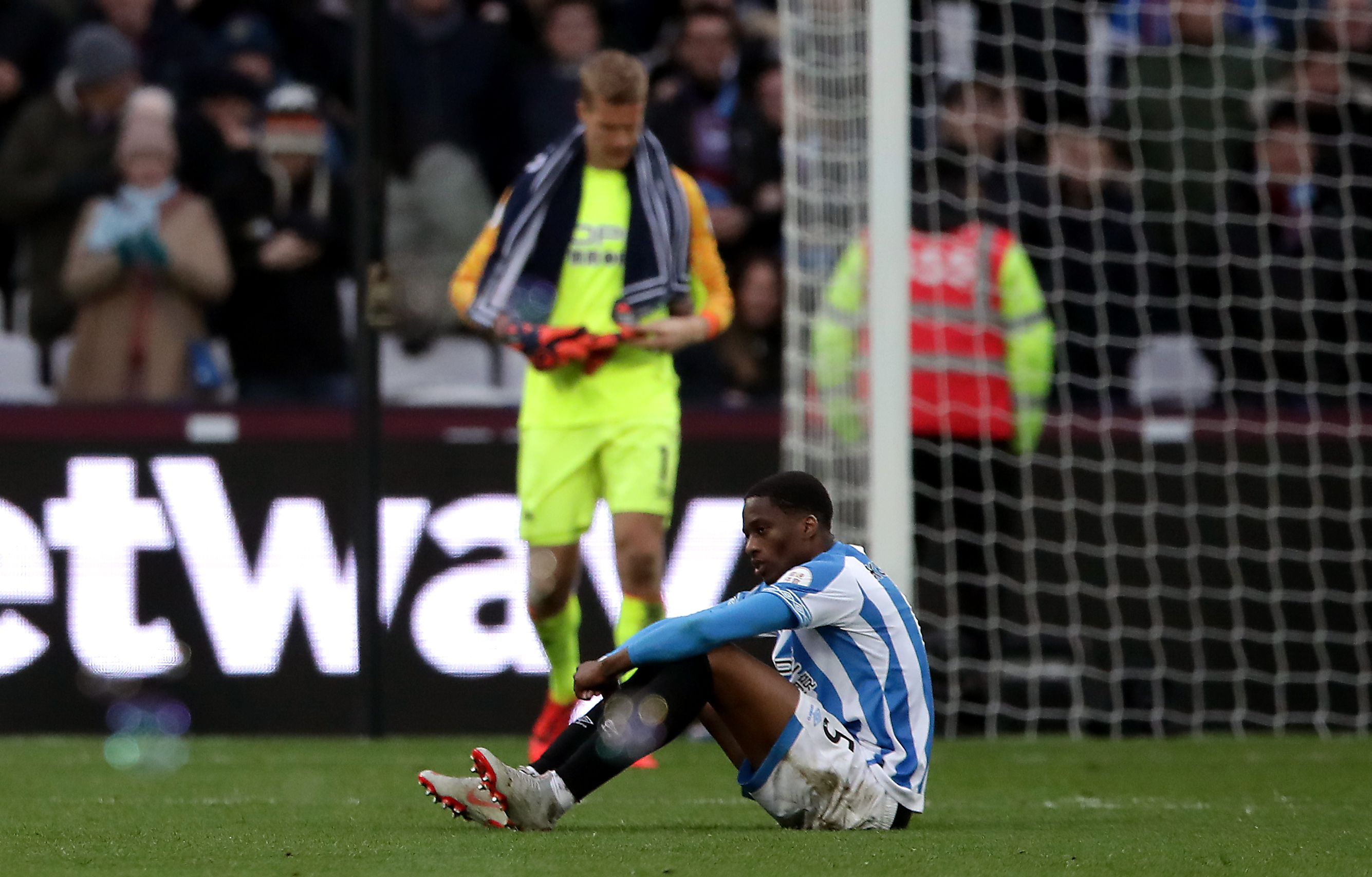 It's the end of the line for Huddersfield. Image: PA Images