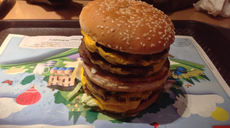 The Monster Mac consists of four Big Macs. Credit: Burger Lad