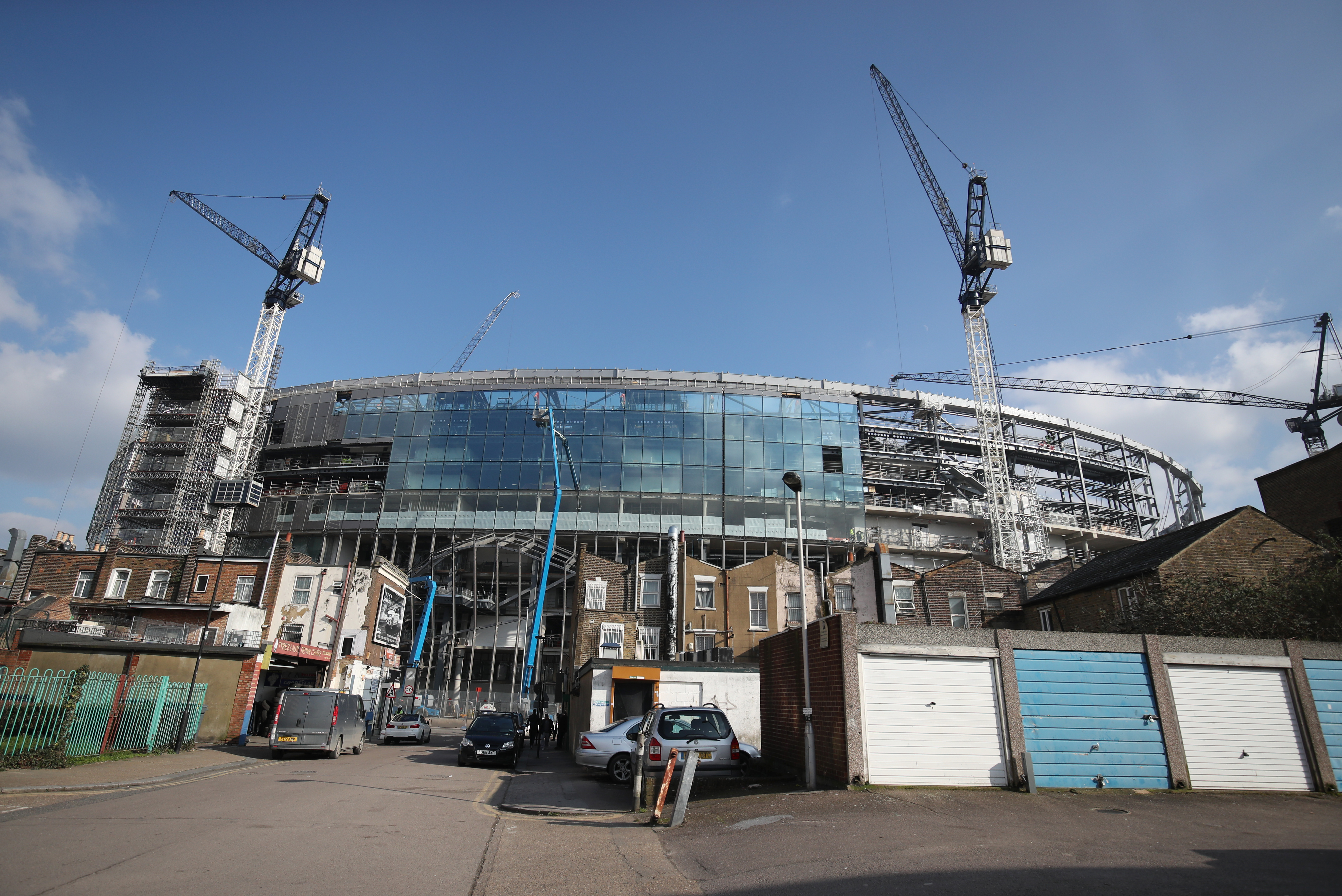 The new ground still had a lot of work to do back in January. Image: PA Images