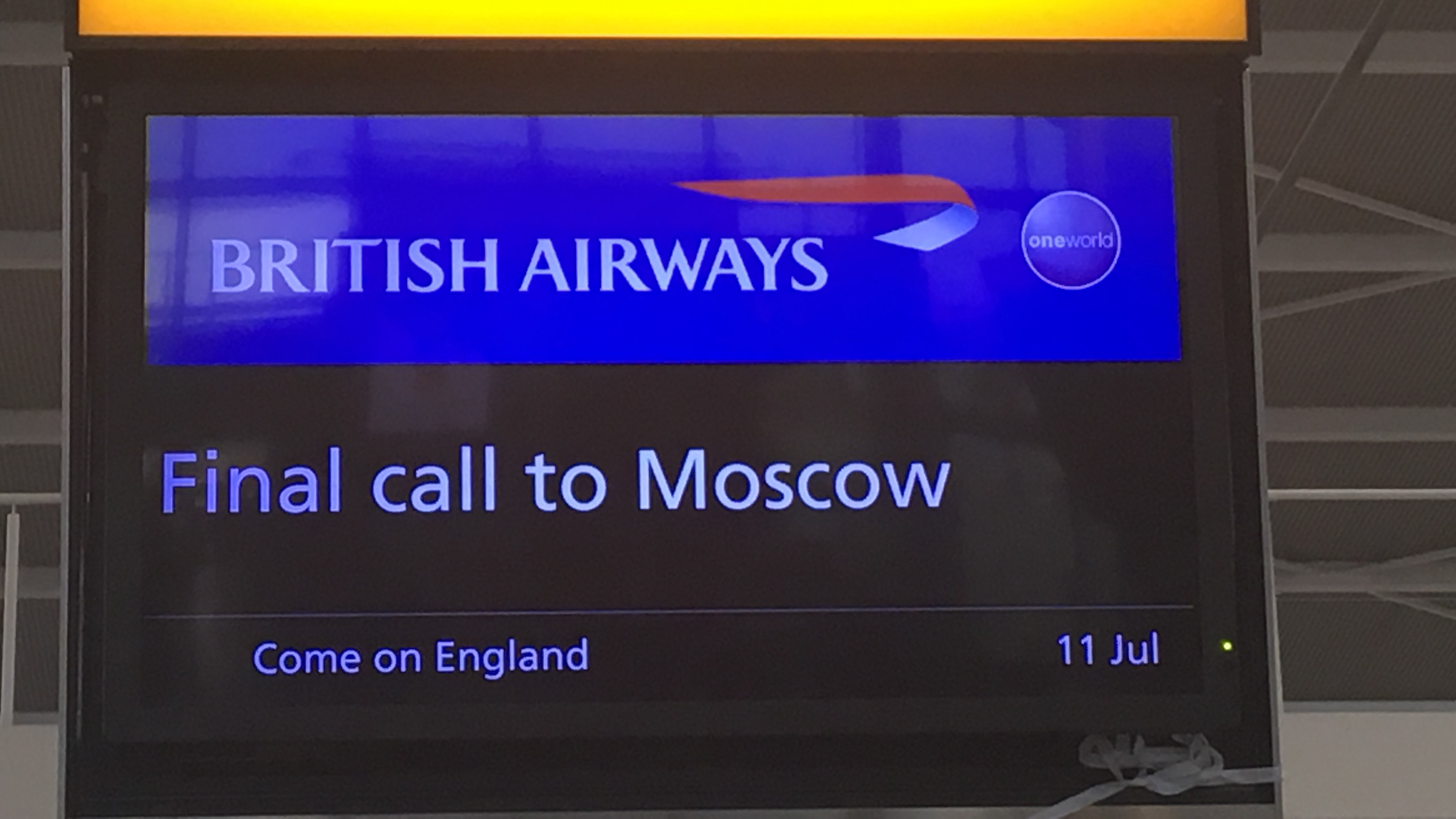 ​British Airways Dishes Out Free Southgate Waistcoats For Customers Flying To Moscow