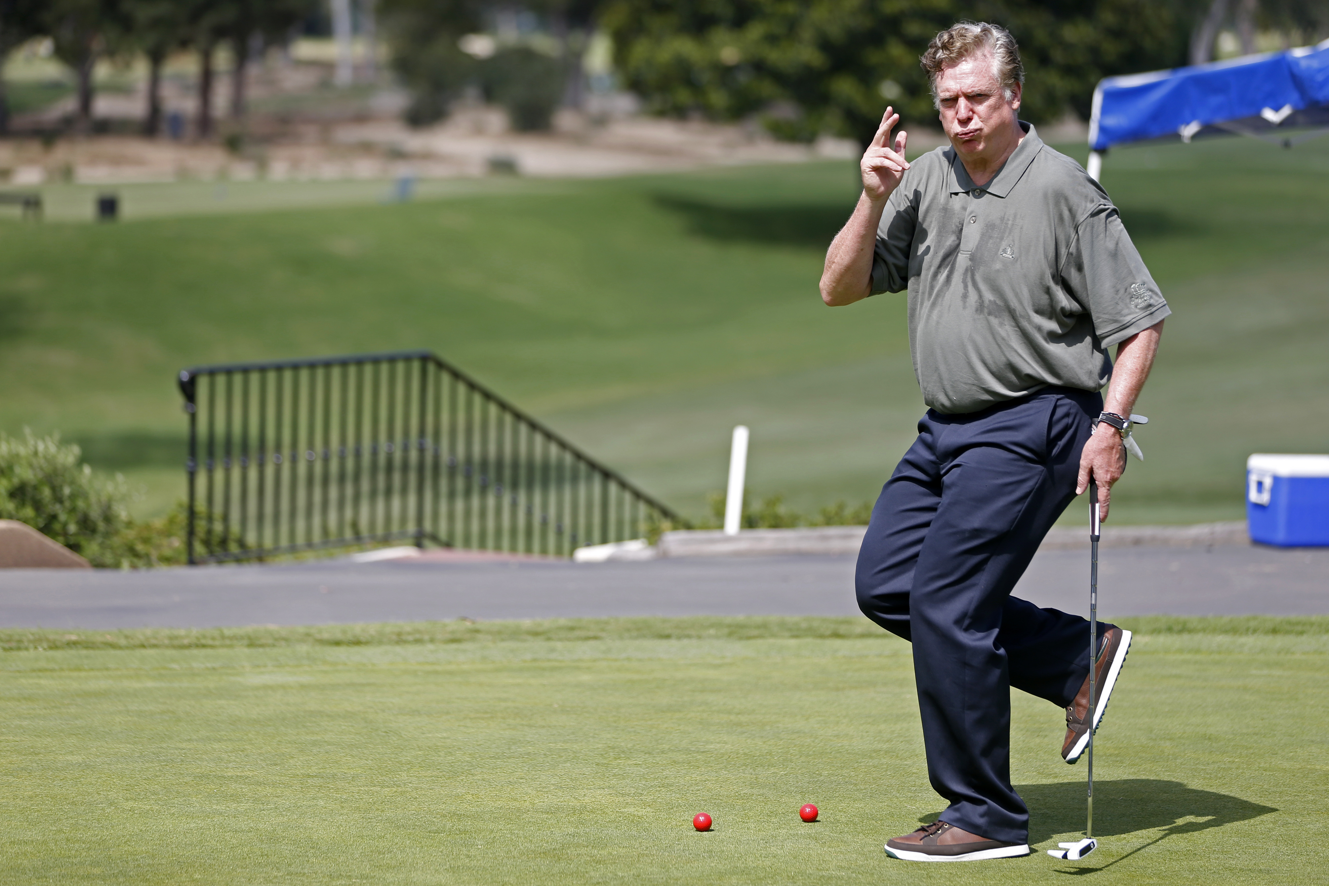 McGavin on the senior's tour. He would never recover from blowing his four shot lead on the back nine.