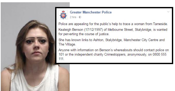 Facebook Goes Savage On Wanted Criminal's Eyebrows After Police Post Photo