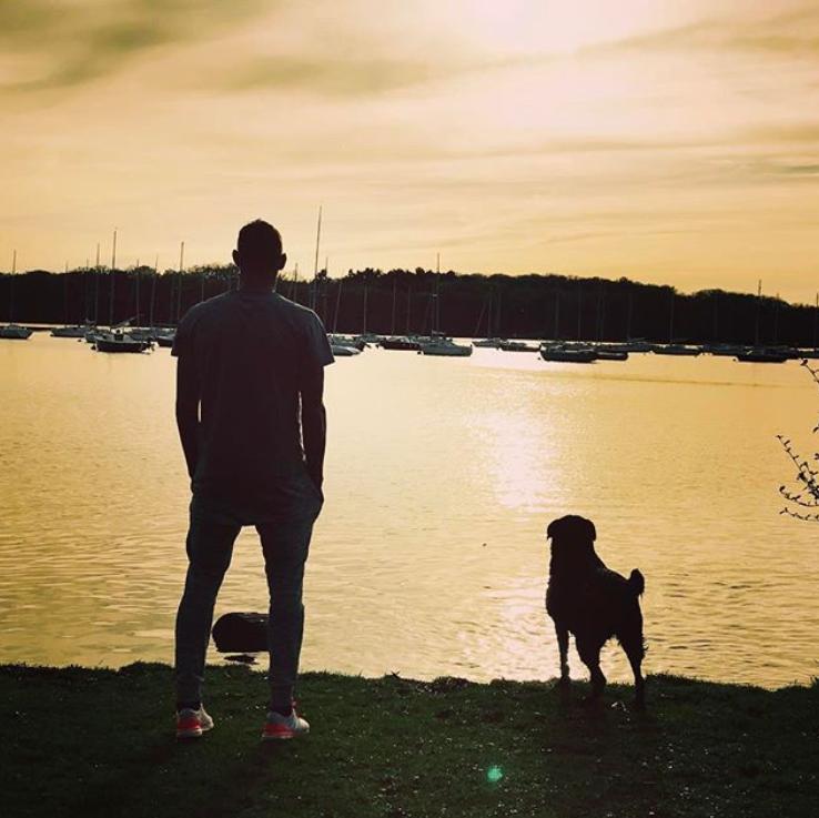 Sala and his dog, Nala. Credit: Emiliano Sala/Instagram