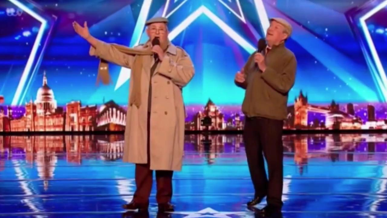 Henry (left) and his singing partner Malcolm Sykes. Credit: ITV