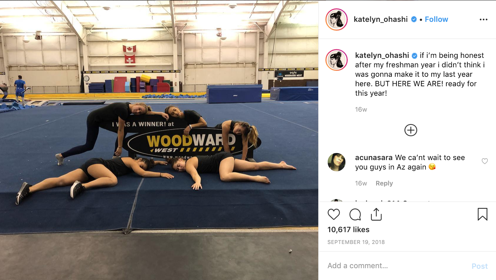 Katelyn says the sport has taken an enormous toll on her body and mind. Credit: Katelyn Ohashi/Instagram