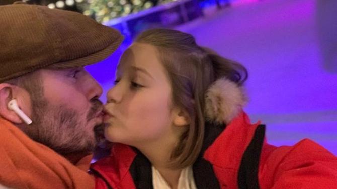 David beckham sparks debate after posting snap kissing - Dave sparks instagram ...