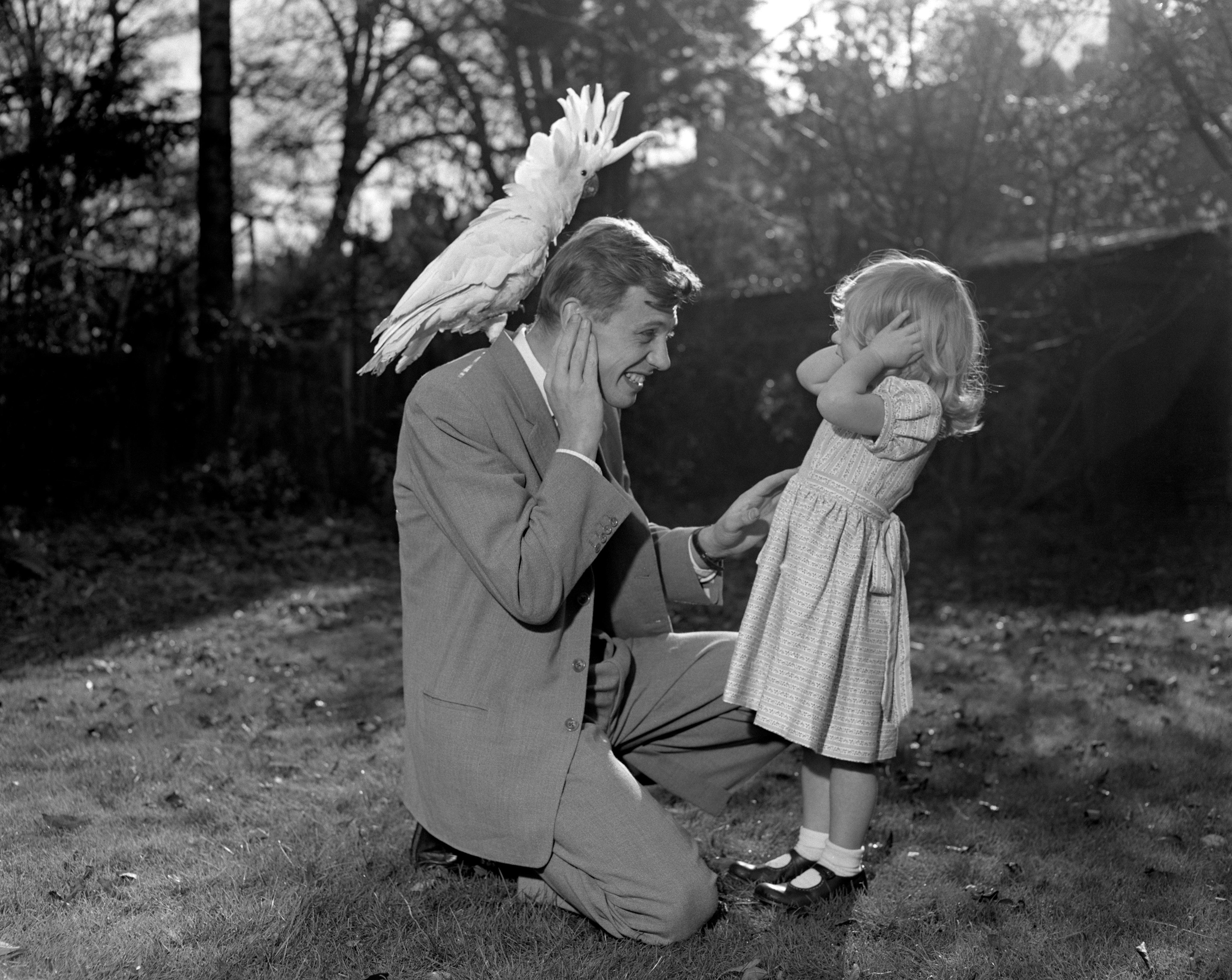 Sir David in 1957. Credit: PA