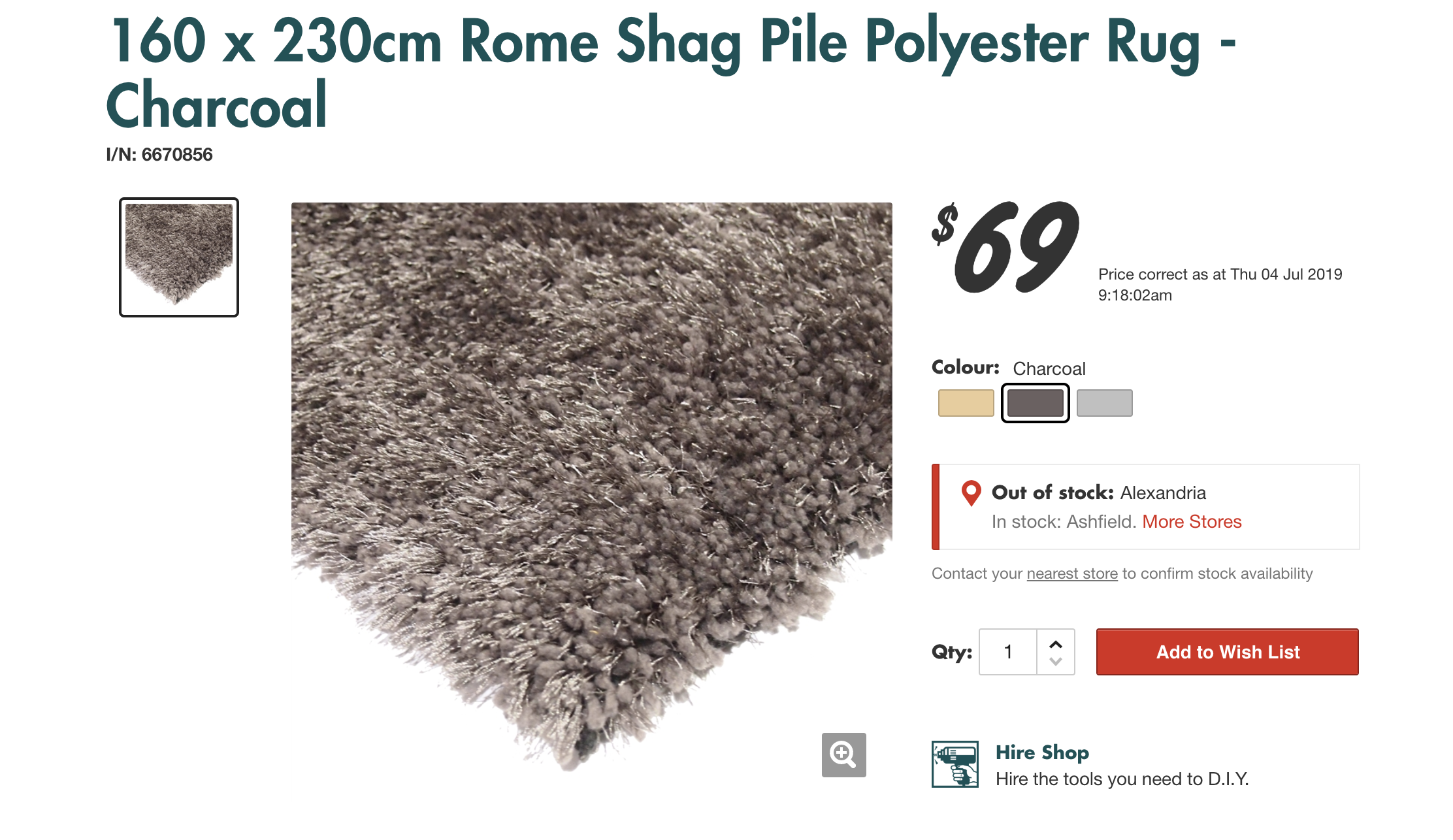 Bunnings Warehouse Is Selling Shag Rugs