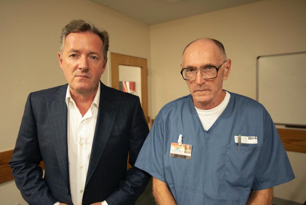Bernard Giles and Piers Morgan. Credit: ITV