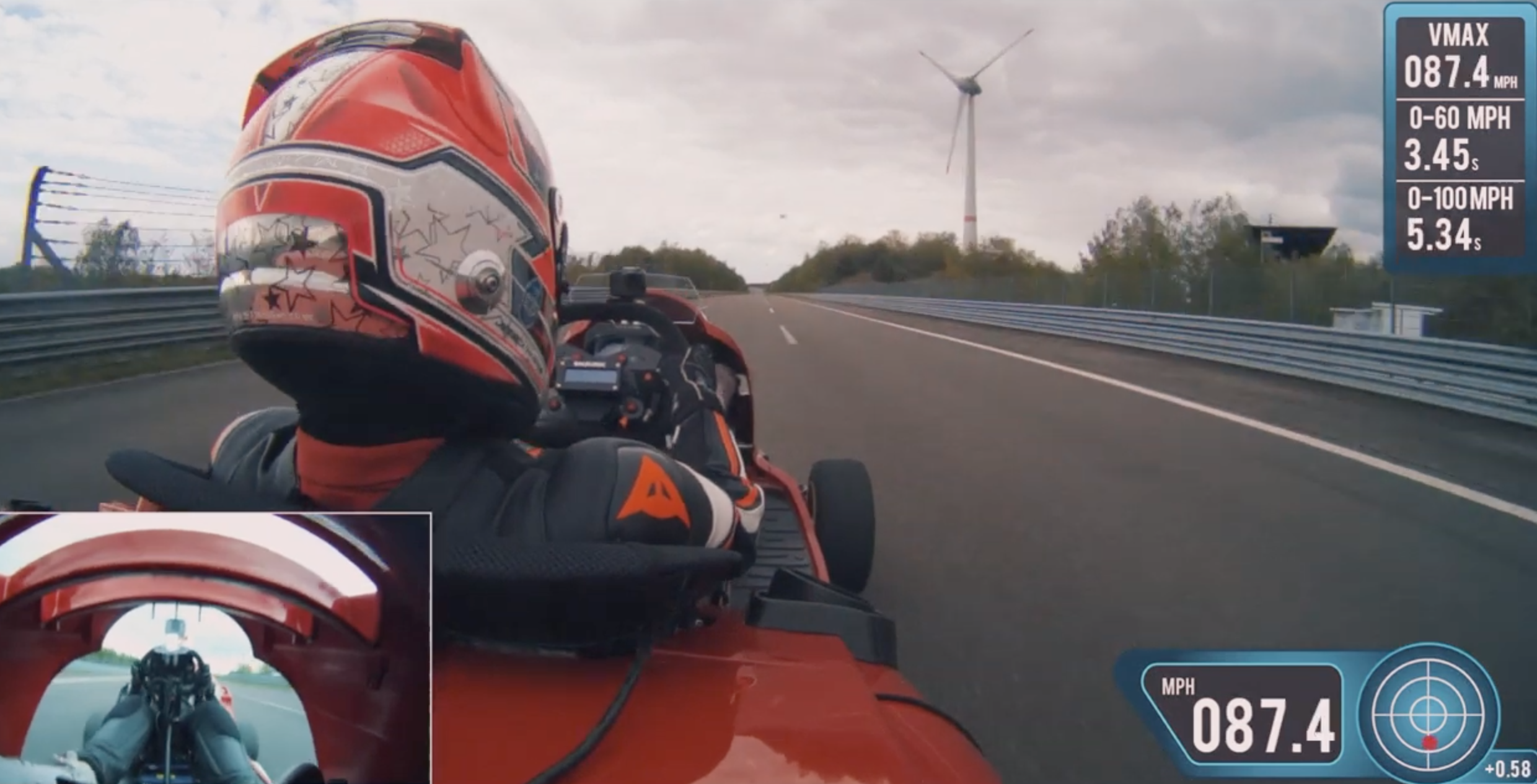 Honda Mean Mower V2 sets Guinness record for 0-100 miles per hour