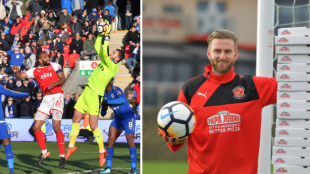 Fleetwood Town Goalkeeper Lands Years Supply Of Free Pizza After Clean Sheet