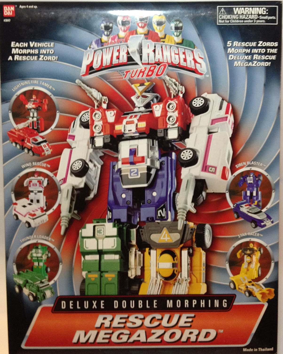 Power Rangers Deluxe Double Morphing Rescue Megazords Are