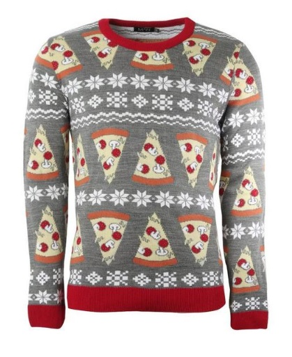 You can show the world how much you love pizza this Christmas. (Credit: Boohoo)