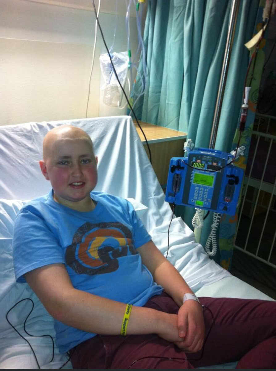 Andrew was diagnosed with a rare form of leukemia when he was 13. Credit: SWNS