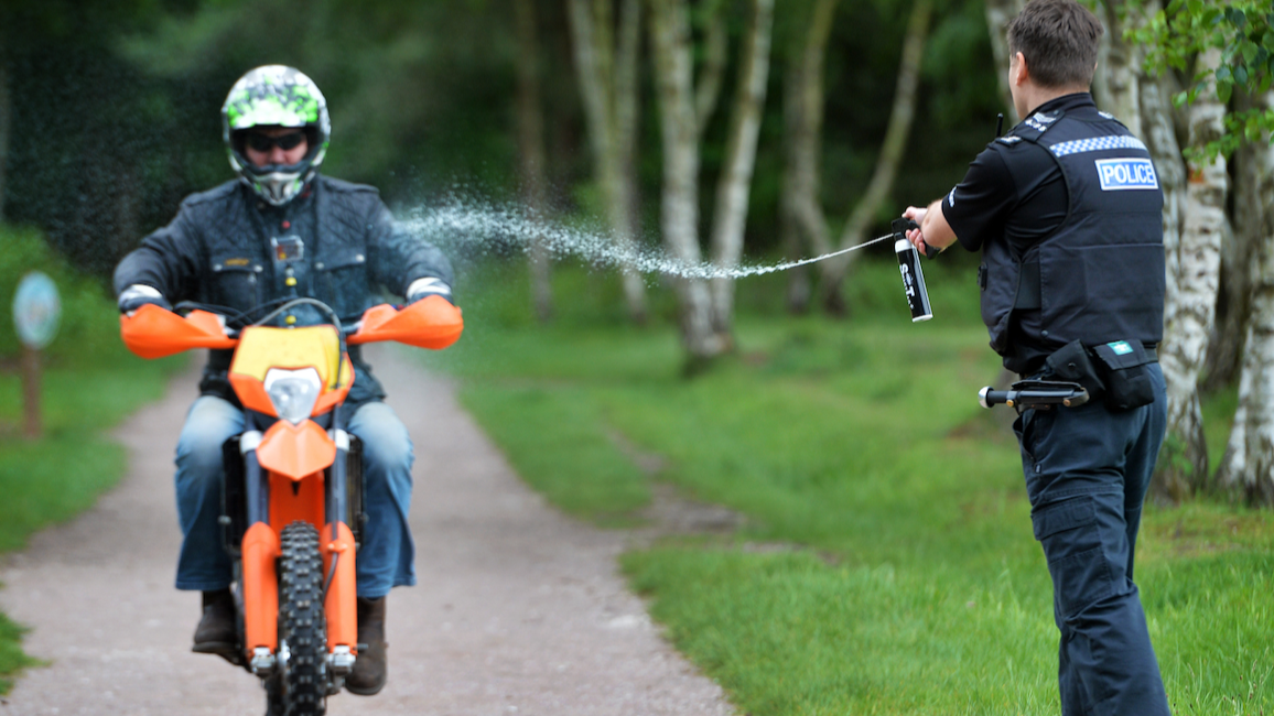 Police Start Using 'Water Pistols' To Fight Moped Crime