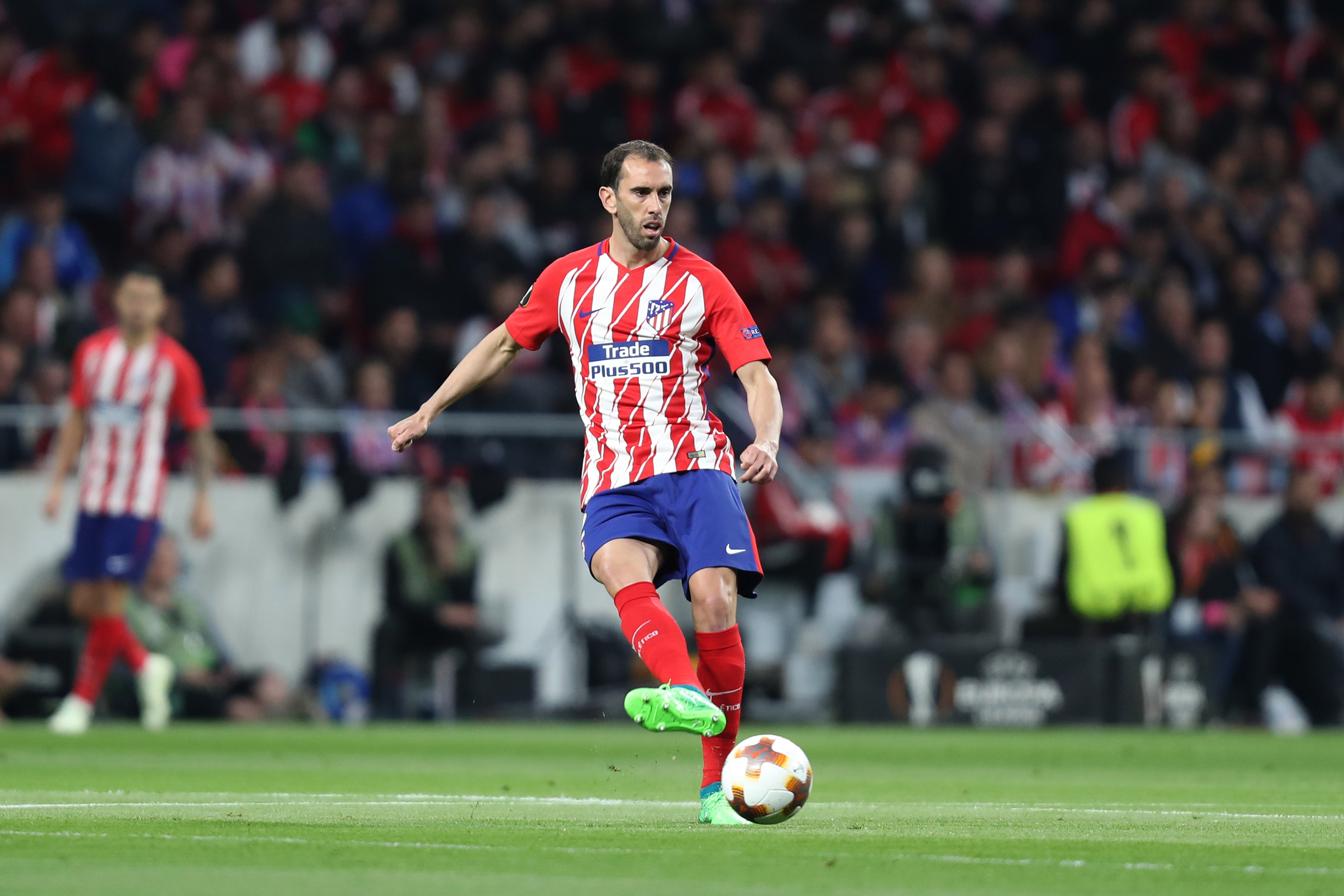 Godin in action for Atletico Madrid. Image: PA