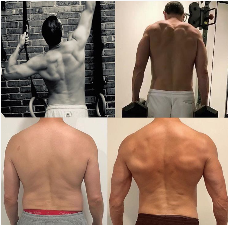 Paddy McGuinness' back transformation. Credit: Instagram