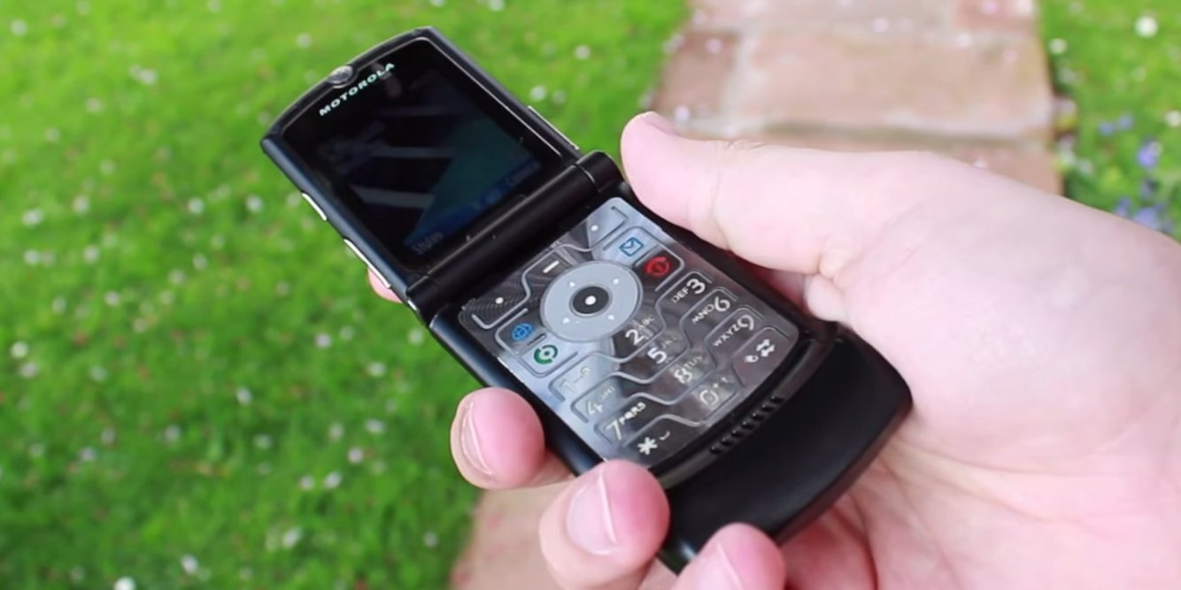 The new Motorola Razr will likely cost around $1,500. Credit: YouTube/PhoneDog