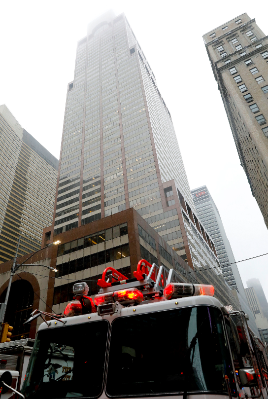 Helicopter Crashes Onto Roof Of 54 Storey Building In New