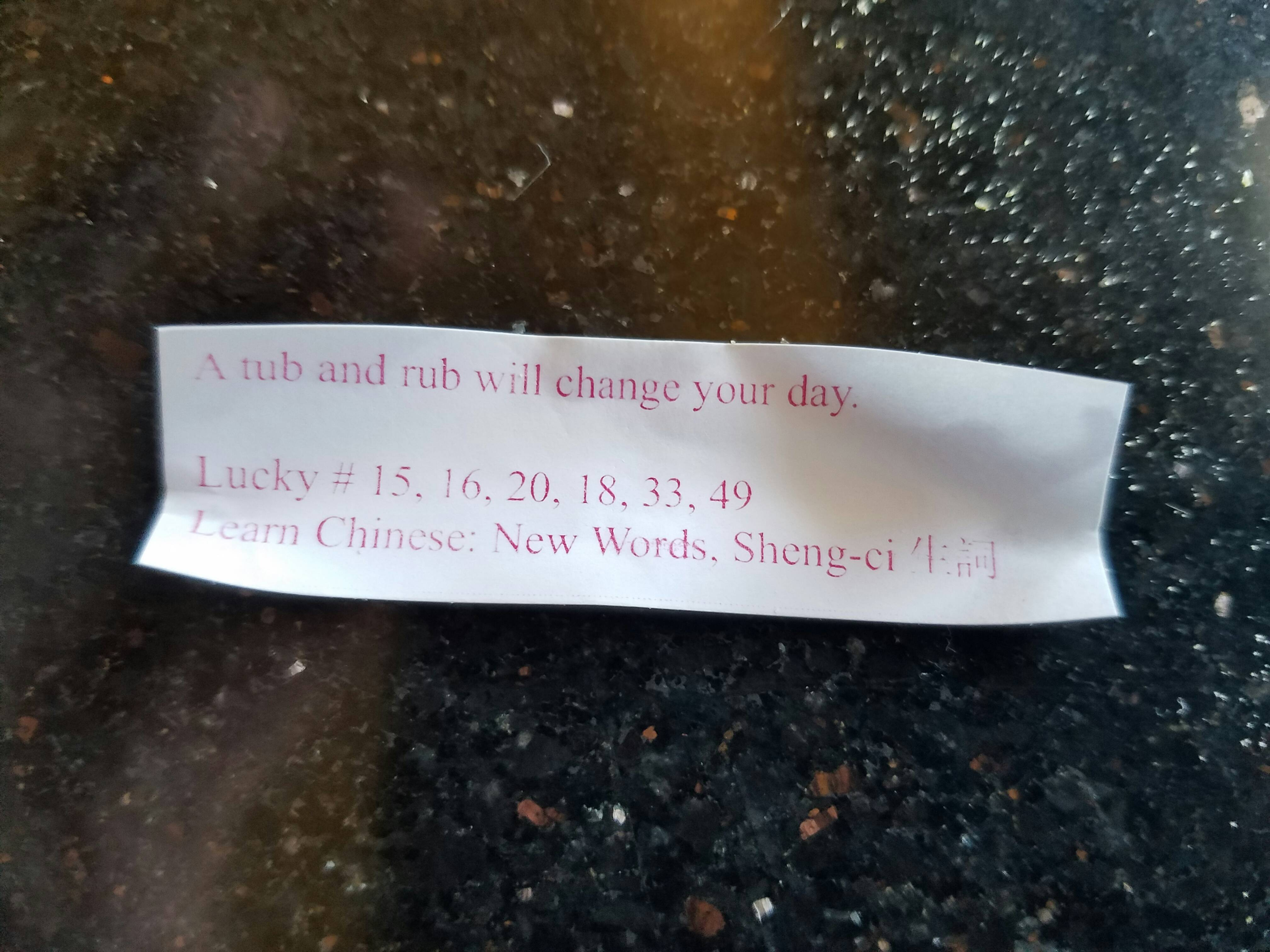 This fortune cookie knows what's up