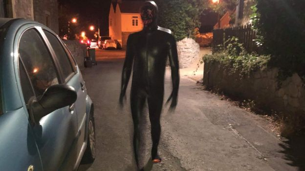 Man in 'gimp suit' scaring people in Claverham | West Country