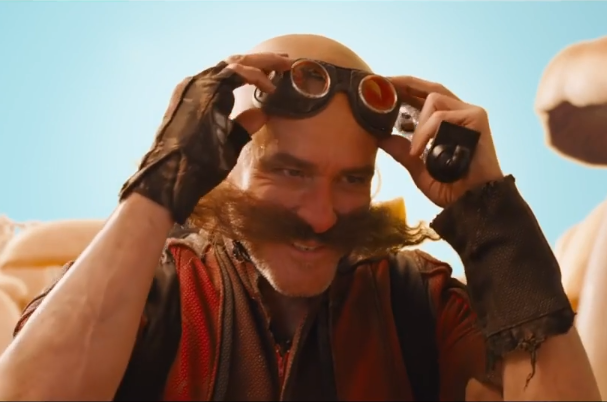 Jim Carrey as a much more recognisable Dr Robotnik. Credit: Paramount Pictures
