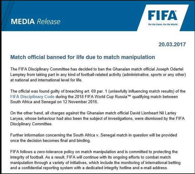 SAfrica may appeal Federation Internationale de Football Association replay order