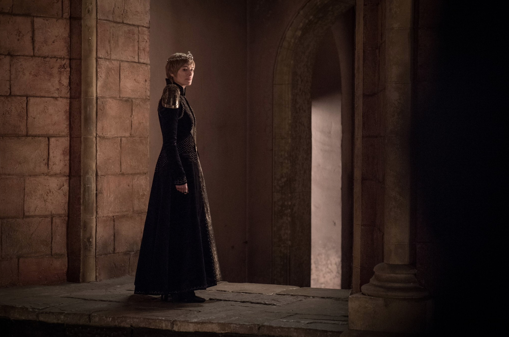 All alone in her castle. Credit: HBO