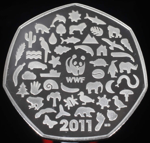 The coin that led to The Coin Supplier's success: a 2011 WWF 50p. Credit: PA