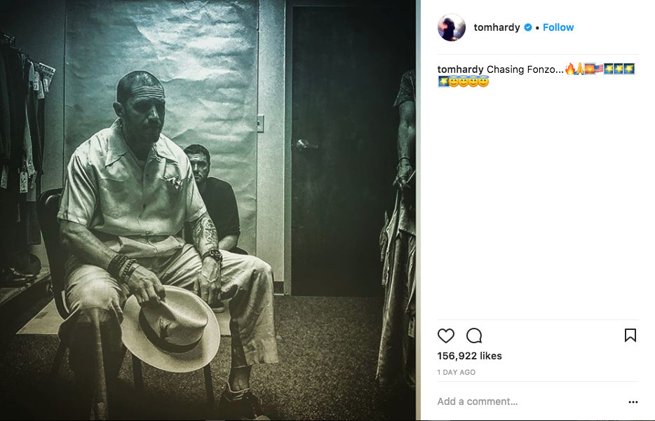 Tom Hardy shares first photo as Al Capone in Fonzo biopic