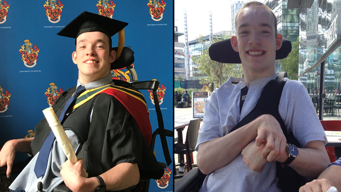 Student Who Can Only Write Using His Eyes Earns First-Class Degree