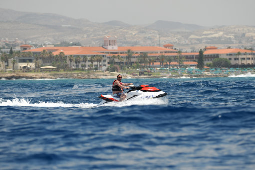 This could be you off the coast of Paphos. Credit: PA