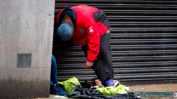 Photos Show Horrific Impact Of Synthetic Cannabis On Manchester's Homeless