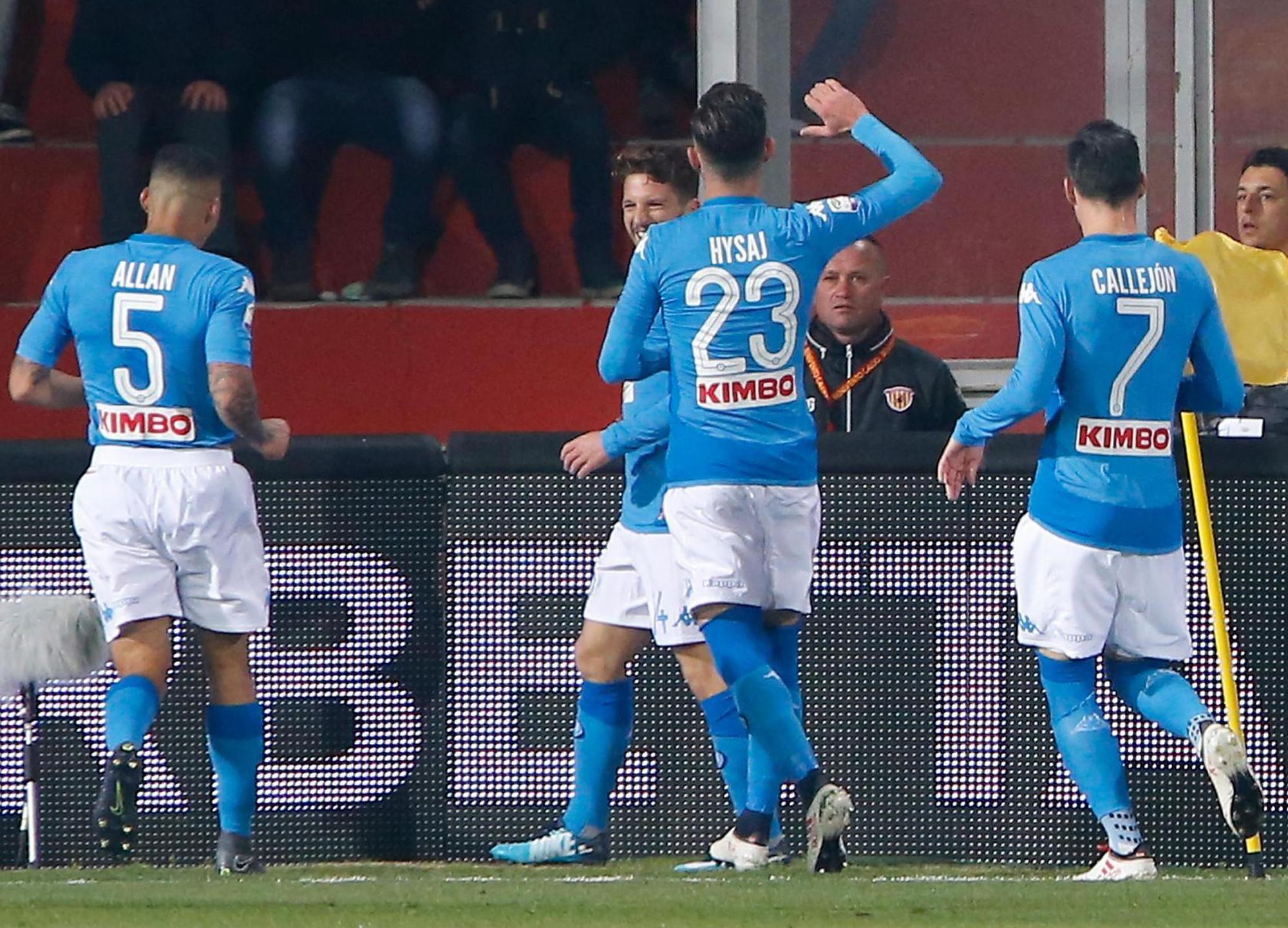 Dries Mertens Scores Sensational Chip For Napoli