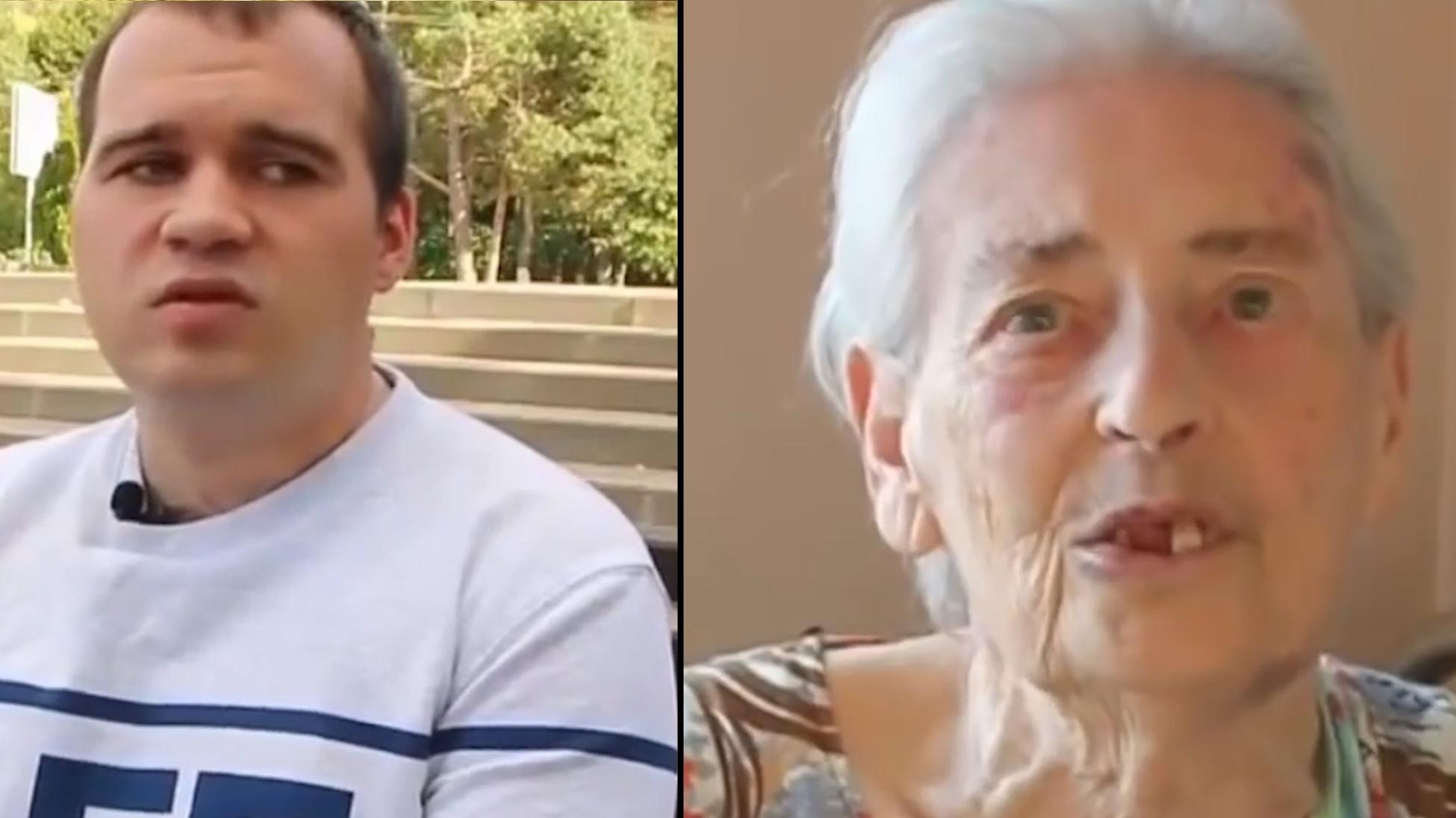 Old woman man