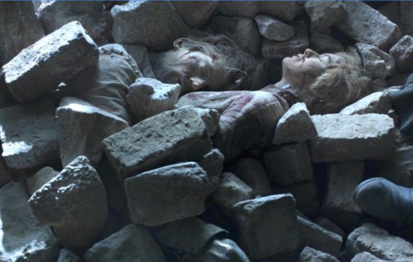 Fans weren't pleased with how easily Tyrion found the bodies of Jaime and Cersei. Credit: HBO