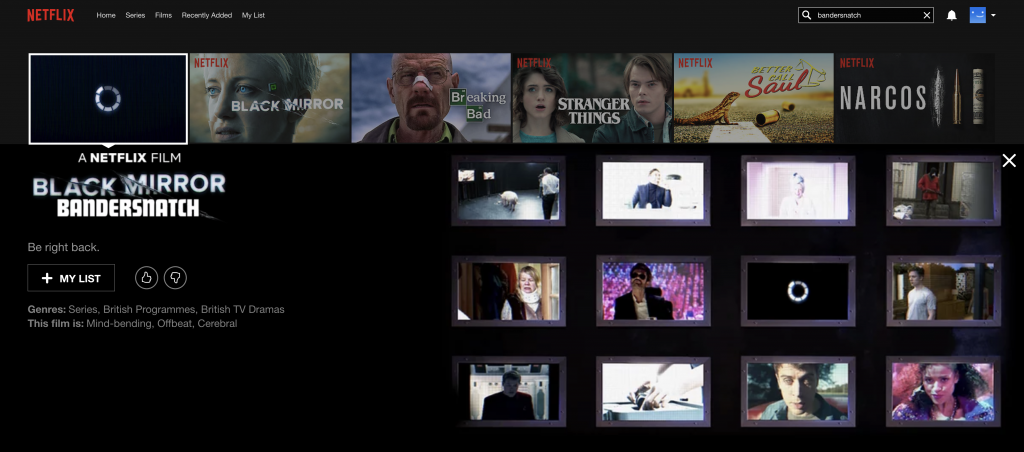 Black Mirror Bandersnatch will be available really soon. Credit: Netflix