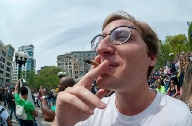 A Man Smoking Marijuana. Credit: PA