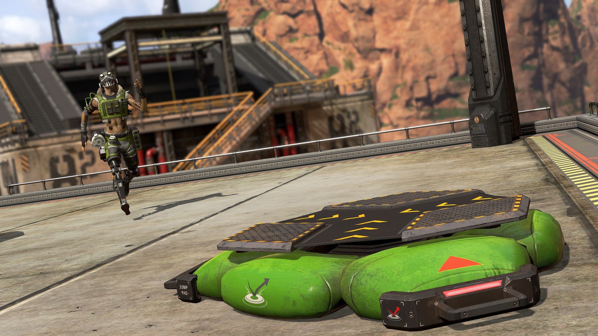 Octane's jump pad lets you launch your team