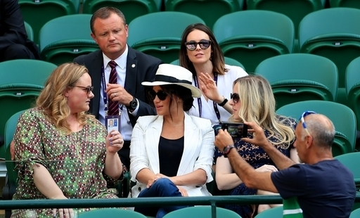 The royal women was sitting comfy at Wimbledon
