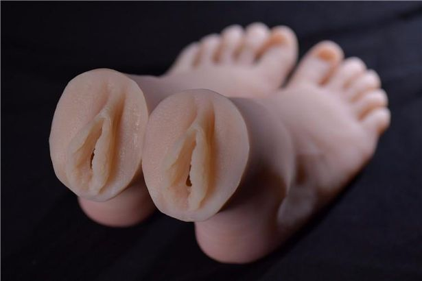 The realistic feet are made of anti-fouling material and feel just like real feet. Credit: Silicon Wives