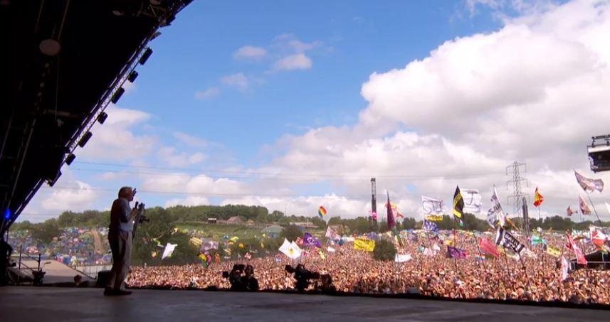 David Attenborough took to the Pyramid Stage at Glastonbury Festival. Credit: BBC Earth