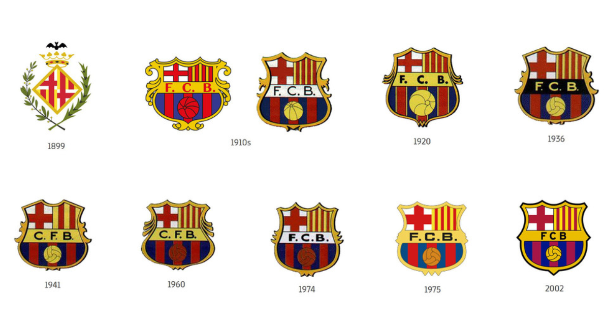 Barcelona change their club badge to a more modern version