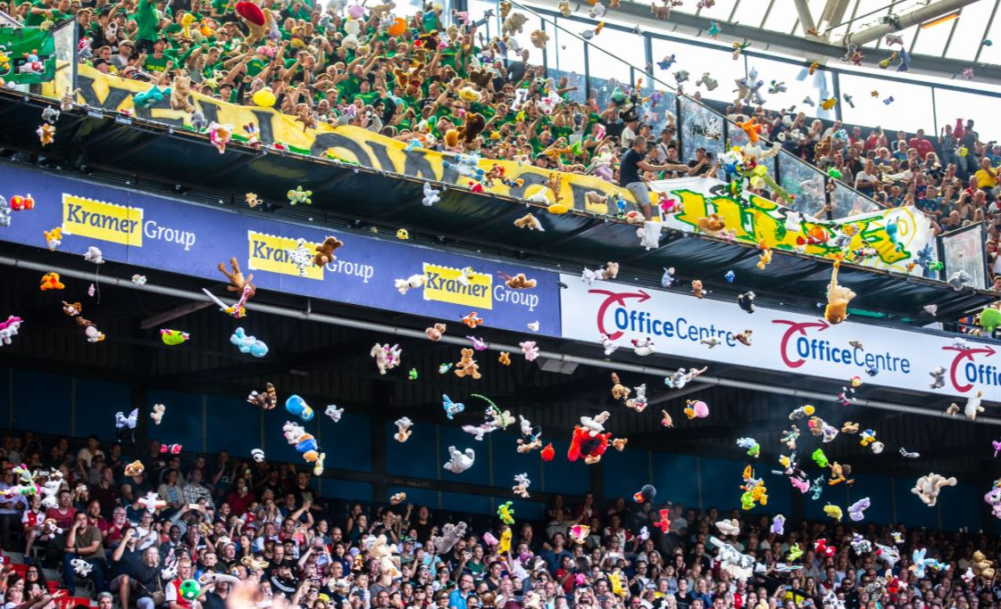 Ado Den Haag Fans Throw Cuddly Toys At Children From Local Hospital Sportbible