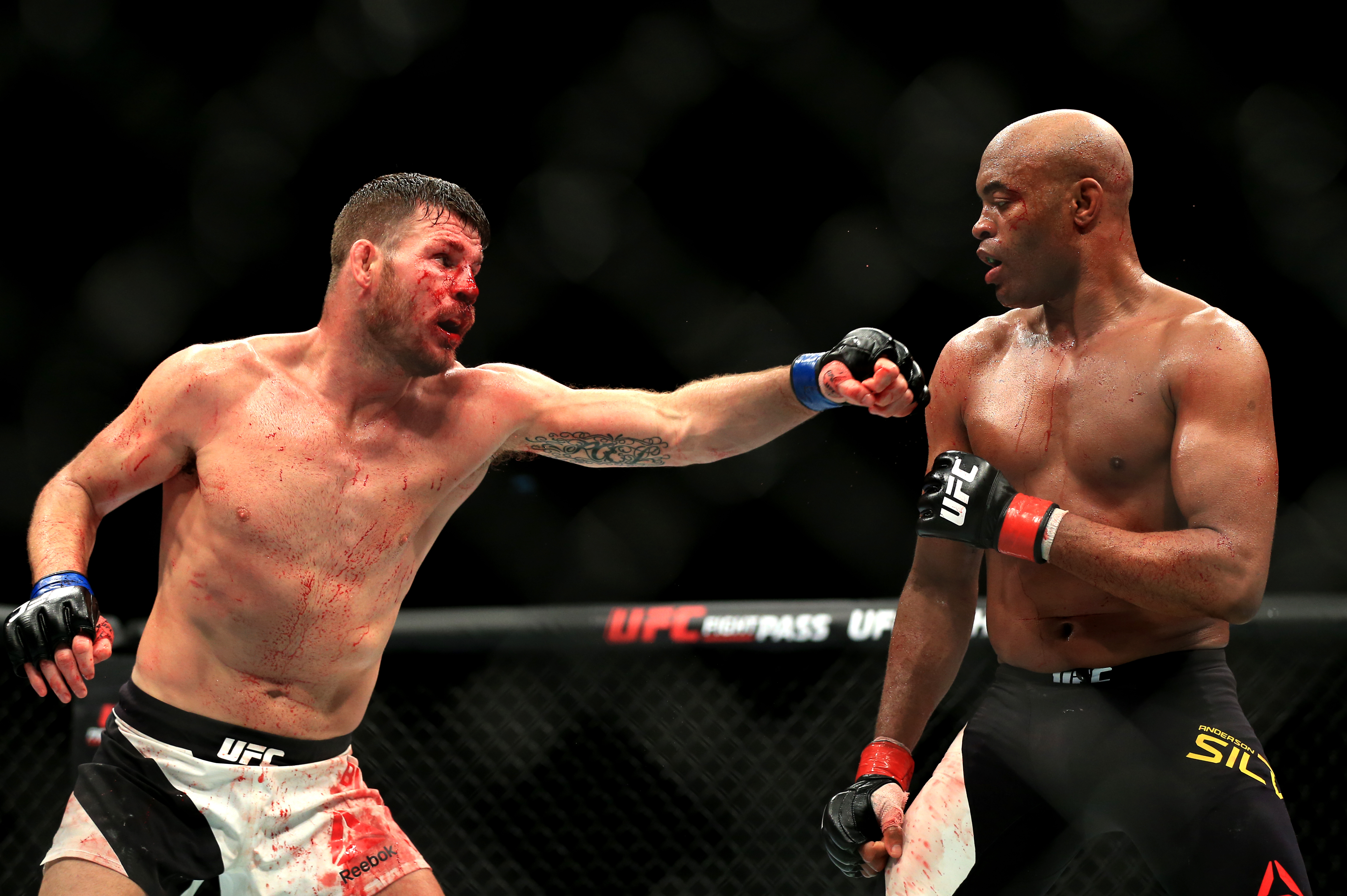One of Silva's recent losses was against Brit Michael Bisping. Image: PA Images