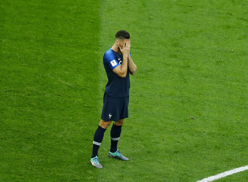 The moment France won the WC, knowing what was the come. Credit: PA
