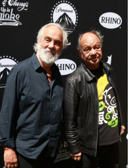 Cheech and Chong. Credit: PA