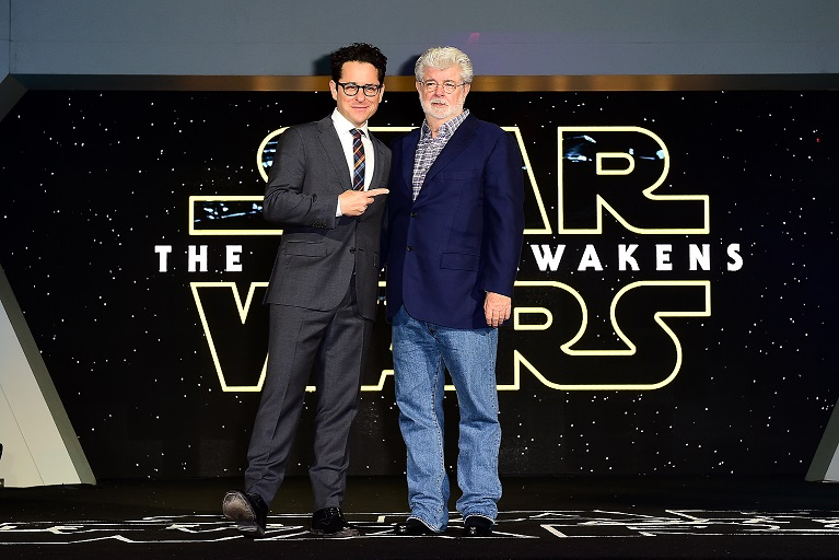 JJ Abrams and George Lucas
